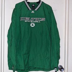Boston Celtics Adidas Jacket Men's Large EUC